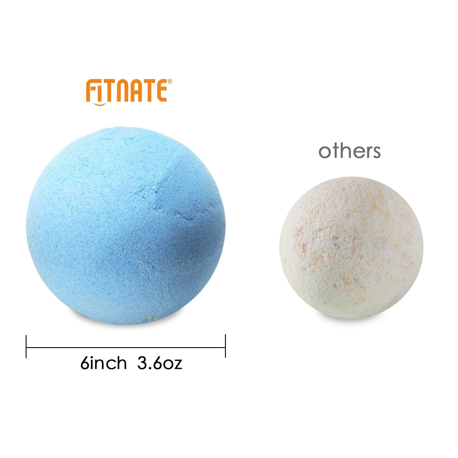 Bath Bombs Gift Set, Fitnate Handmade Spa Bath Bombs Kit Ultra Lush ...