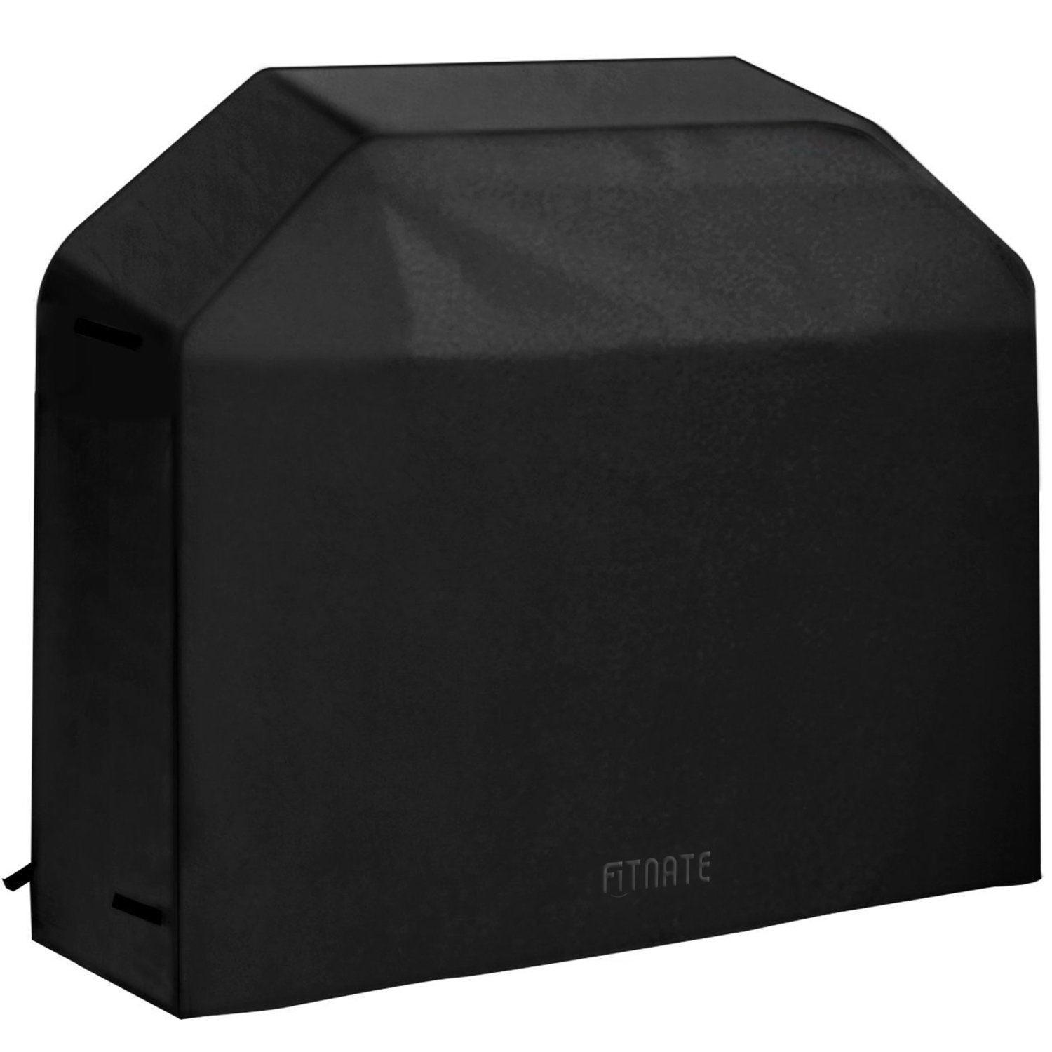 Fitnate Gas Grill Cover Waterproof Oxford fabric BBQ Grill Cover with PVC Layer 600D Heavy Duty , Velcro Straps and Handles UV Protection & Snow-Resistant & Water-Resistant & Dust-Resistant (58-inch)