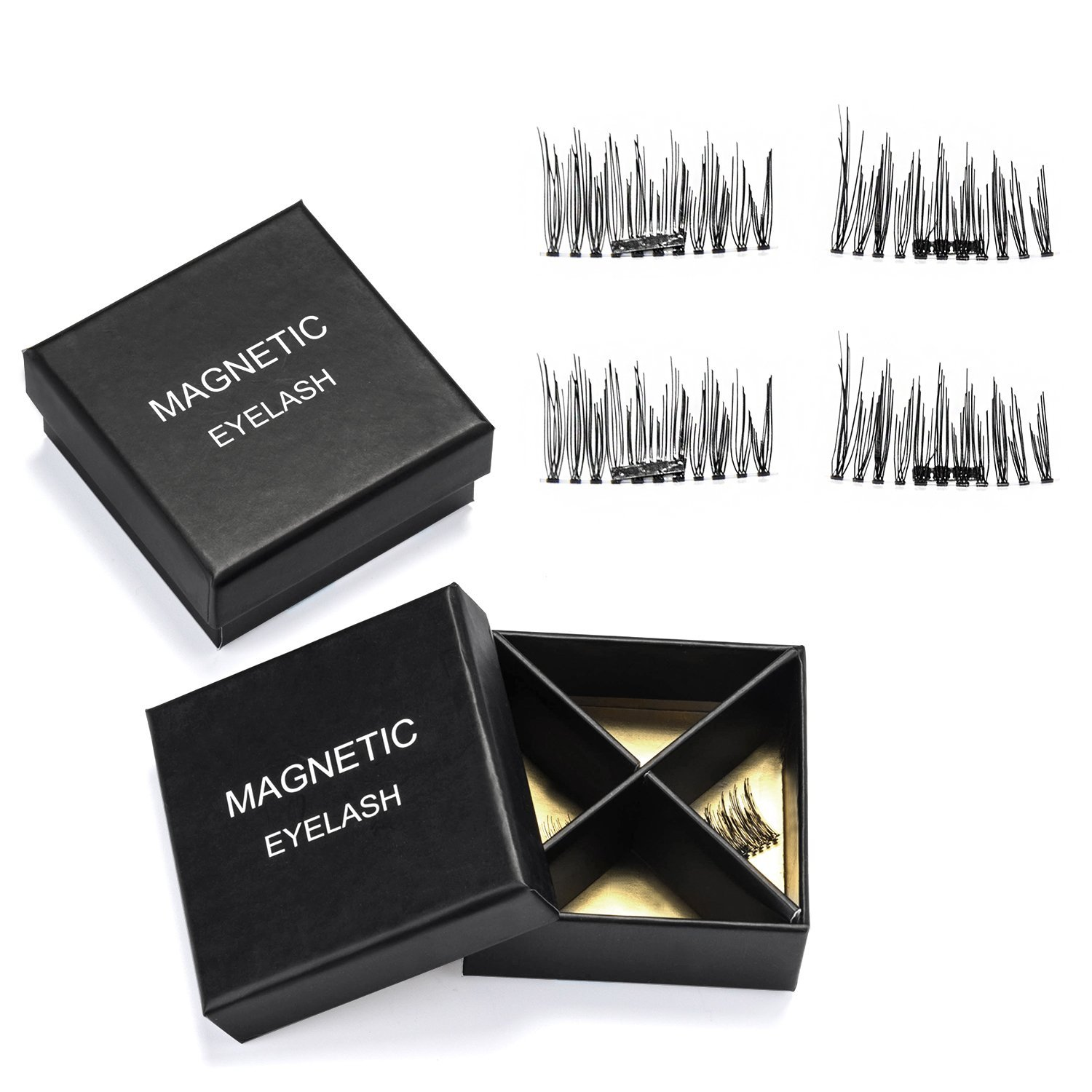 Fitnate Magnetic Eyelashes 3D Reusable False Magnet Eye Lashes Extensions 2 Pairs, 1 Set (BT0110A)