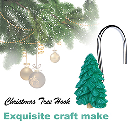 Shower Curtain Hooks,Fitnate 12 PCS Anti-Rust Decorative Shower Curtain Hooks for Home, Bathroom, Bedroom, Baby Room, Living Room & More –Christmas tree/Woods/Pine Tree