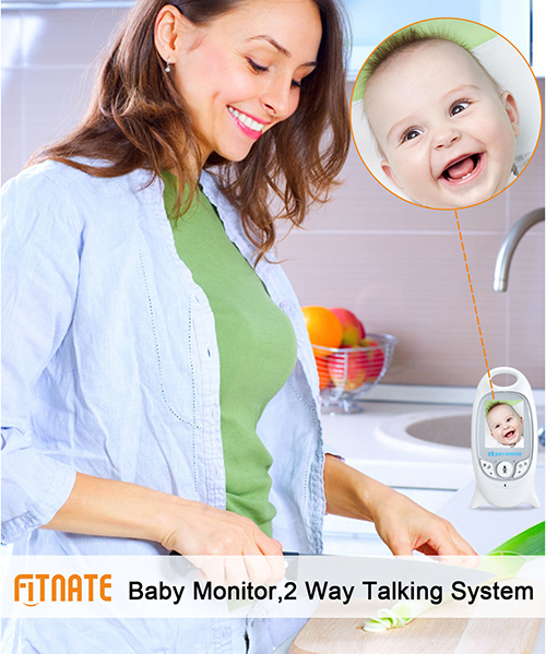 Fitnate Baby Infant Wireless Video Digital Camera Monitor Night Vision 853ft Signal Range Stable Connection